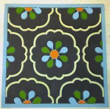 "Cepress Home Casablanca Trivet Hot Pad Kitchen Bar Floral Blue Brown 7 1/2"" NIB"