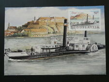 ship steamboat paddle boat maximum card Yugoslavia 61331