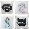 40cm Sequin Cushion Unicorn Mermaid Pillow Reversible Sequin Pillow Magical Gift