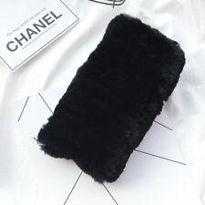 Real Rex Rabbit Fur Ring Cowl Scarf Scarves Headband Neck Winter Warmer Elastic