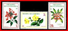 Comoros 1970 Flowers Mnh Cv$4.25 Stamps