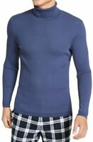 INC Mens Sweater Blue Size Large L Turtleneck Ribbed Pullover Stretch $80 #181