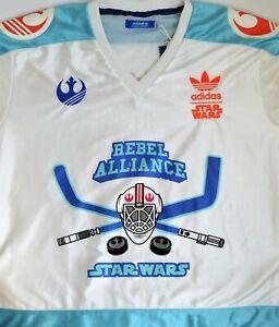 ADIDAS STAR WARS Hockey Jersey Skywalker Alliance T-shirt Print Embroidery White