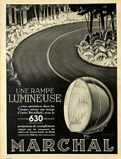 MARCHAL 630 UNE RAMPE LUMINEUSE PUBLICITE 1938