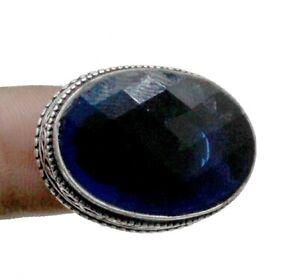 Tanzanite Gemstone 925 Sterling Silver Handmade Jewelry Vintage Ring (US) Size-8