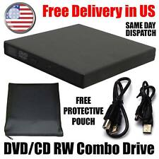 USB 2.0 External DVD Combo CD-R/RW CD-ROM DVD-ROM Burner Drive for PC Laptop USA