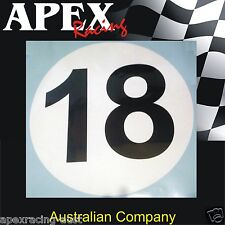 Historic Style Motor Racing Door Number Stickers - Race Rally Drift CAMS