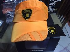 ***Bnew Official Licensed Tangerine Lamborghini Petron Racing Cap Collectible***