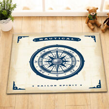 "15X23"" Nautical Campass Bath Non-Slip Floor Mat Door Carpet Custom Kitchen Mat"