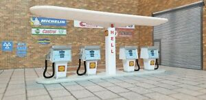 Petrol Pump Model Kit 1:43 Scale Models Cars Garage Diorama 3d Printed.