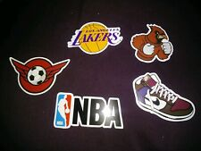 LAPTOP STICKERS SPORTS STYLE NBA LAKERS CARDINALS CAR SKATEBOARD DECALS LOT OF 5