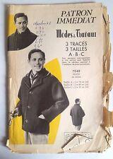 4)Patron Mode et Travaux; Veste en Ratine 3 Tracés, 3 Tailles