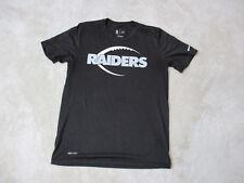 NIKE Oakland Raiders Shirt Adult Medium Black White Dri Fit NFL Football Mens