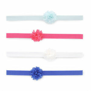 Carters Infant Girls Headwraps 4 pack Size 0-6 Month 100% Polyester Elastic