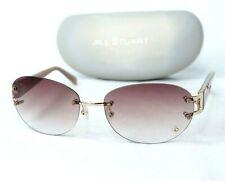 JILL STUART sunglasses brown gradient gold heart crystal women rimless