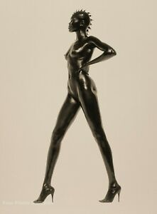 1998 HERB RITTS Black Female Nude Woman ALEK WEK Fashion Surreal Photo Art 12x16