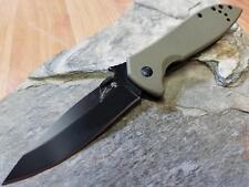 Kershaw Emerson CQC-4K Knife Folding Pocket Wave Feat Tan G10 Drop Pt 6054BRNBLK