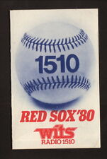1980 Boston Red Sox Schedule--WITS/Chrysler Plymouth