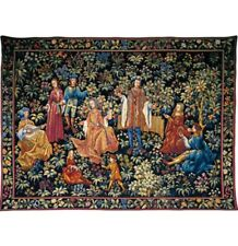 """Jardin Secret French Tapestry Wall Hanging H 41"""" x W 56"""""""