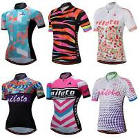 Miloto Ladies Cycling Jersey Short Sleeve Women's Bike Bicycle Cycle Jersey Top