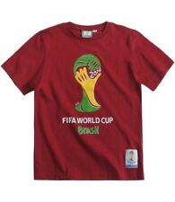 Tee-shirt bordeaux FIFA coupe du monde de foot Brésil - 042 - 14 ans /164 cm