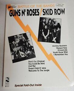 GUNS N ROSES SKID ROW BATTLE OF THE BANDS GUITAR TAB TABLATURE MUSIC SONGBOOK
