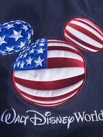 *WALT DISNEY WORLD* Men's Navy Blue Patriotic USA Mickey Mouse Ears Sweatshirt L