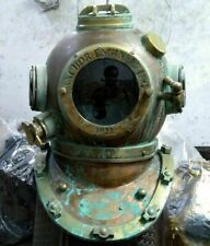 Maritime Old Antique Brass Diving Helmet Navy Mark Deep Sea Marine Divers Scuba