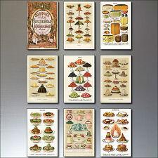 9 Vittoriano Stampa Calamite da frigo Mrs Beeton' libro di cucina RIPRODUZIONE