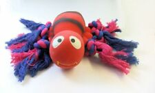 Hiho Australia Dog Play Chew Toys - Fun Squeaky Red Latex Rubber Bee with Rope!