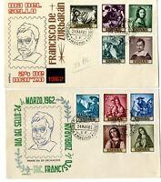 2 Sobres primer dia España 1962 Francisco de Zurzabaran Spain First day