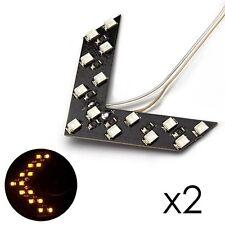 Lot de 2 Flèche Orange clignotant LED pour rétroviseur de voiture