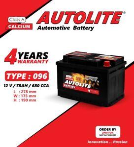 Sealed Maintenance Free Car Battery type 096 100 12V Double Lid with Magic Eye