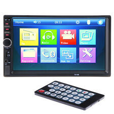 7'' 2 DIN AUX In Dash LCD HD Bluetooth Touch Screen Car Stereo Radio MP3 Player