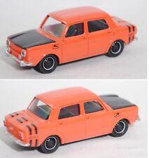 Norev 319251 Simca 1000 Rallye 2, dunkel-lachsorange / schwarz, Multigam Classic