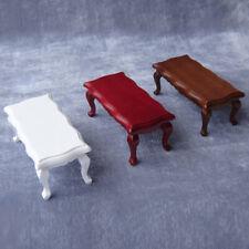 1:12 Miniature Coffee Table DIY Birch Portable Dollhouse Furniture Wave Edged