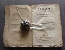 180 LIBRO ANTICO - PIRRO- TRAGEDIA DI C. MOSCHENI - LUCCHESE OPERA TEATRALE 1817