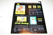 Vintage WARREN PAPER PRODUCTS - RAG DOLLS puzzles ad sheet #0233