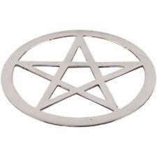 Silvertone Pentagram  5 3/4  in diameter -Cut out design - Durable solid metal -