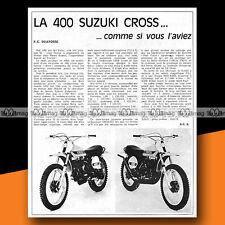 ★ SUZUKI TM 400 ★ 1971 Article de presse Moto CROSS / Original Article #a1291