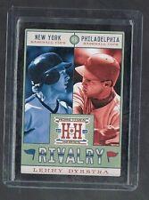 LENNY DYKSTRA #R18 Mets / Phillies Rivalry Black 2013 Panini Hometown Heroes