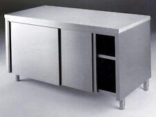 TAVOLO ACCIAIO ARMADIATO SCORREVOLE INOX, ristorazione - cm. 100x70x85H.