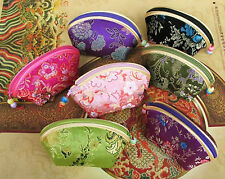 wholesale  10 pcs Chinese embroidery Silk satin Coin pouch PURSE wallet