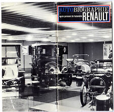 1898 - 1966 RENAULT AUTOBiographie HISTORY Museum Display BOOKLET Color Photos