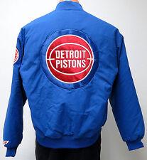 vtg DETROIT PISTONS Blue Snap Up Jacket MED 80s/90s nba throwback bad boys Men M