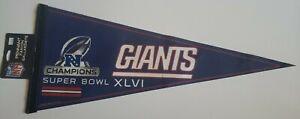 2012 New York Giants NFC Champions Super Bowl XLVI Pennant