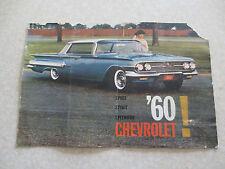 Original 1960 Chevrolet advertising booklet - Chev Impala Bel Air Biscayne