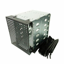 "5.25"" to 5X 3.5"" SATA SAS HDD Hard Drive Cage Adapter Tray Caddy Bracket"
