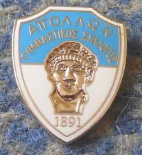 APOLLON ATHENS GREECE FOOTBALL FUSSBALL SOCCER 1990's ENAMEL PIN BADGE