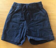 Baby Boys Navy Blue Shorts Size 6-9 Months